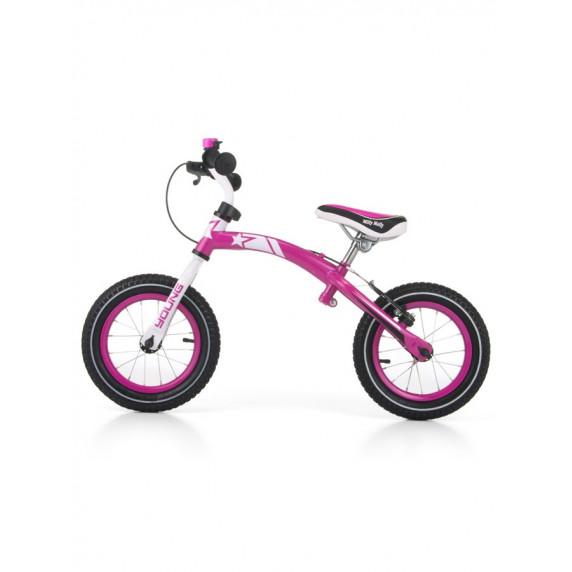 """Detské cykloodrážadlo 2v1 Milly Mally Young 12"""" - pink"""