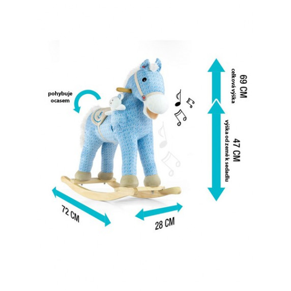 Hojdací koník Milly Mally Pony bežový