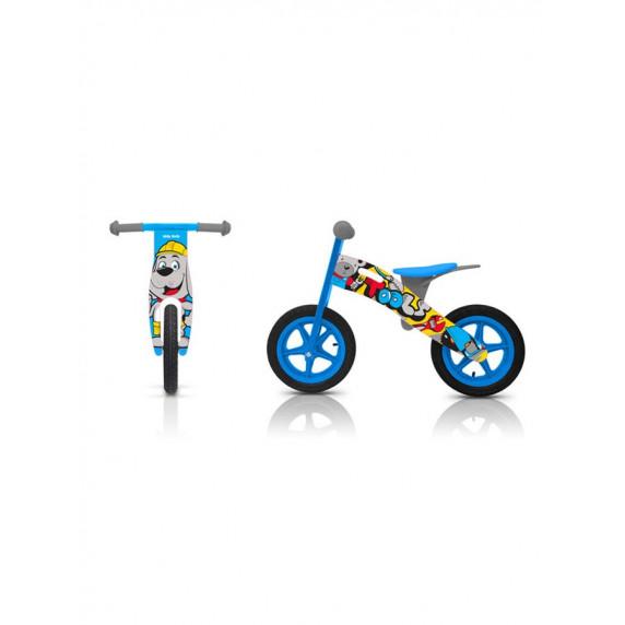 "Detské drevené cykloodrážadlo Milly Mally King Rainbow 12"""