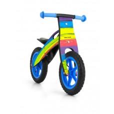 """Detské drevené cykloodrážadlo Milly Mally King Rainbow 12""""  Preview"""