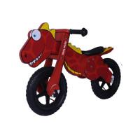 "Detské drevené cykloodrážadlo Milly Mally DINO 12"" - červené"