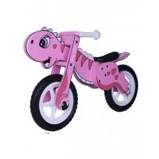 """Detské drevené cykloodrážadlo Milly Mally DINO 12"""" -  pink Preview"""