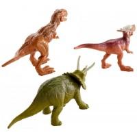 Mattel Jurský svet Mini Dino 3 ks - Triceratops, Sygimoloch, Mettalix T-Rex