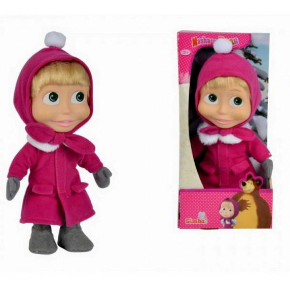 Máša a Medveď - bábika Máša 23 cm zimná