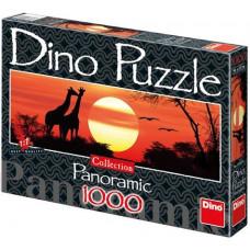 Dino Puzzle - Žirafy a západ slnka 1000 dielikov Preview