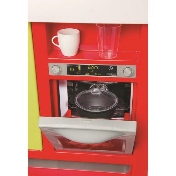 Detská kuchynka Bon Appetit Red & Green Smoby so zvukom a svetlom a 23 doplnkami červená