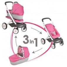 Smoby kombinovaný kočík pre bábiky Maxi Cosi pink Preview