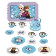 Detská čajová súprava Frozen Smoby z plechu so 14 doplnkami