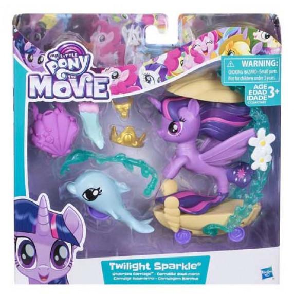 MLP Twilight Sparkle morský poník a mušľový kočiar