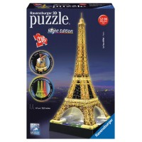 Ravensburger 3D Puzzle - svietiaca Eiffelova veža 216D