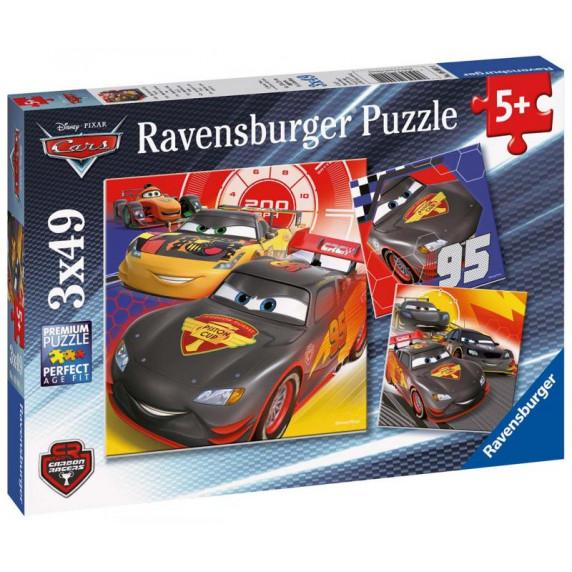 Ravensburger Puzzle Autá - Dobrodružstvo na ceste 3x49D
