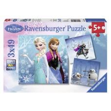 Ravensburger Puzzle Ľadové Kráľovstvo 3 x 49D Preview