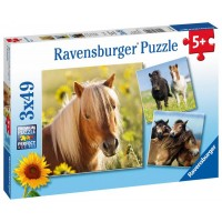 Ravensburger Puzzle Koníky 3 x49D