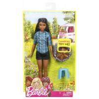 Barbie bábika pri táboráku - Brunetka