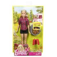 Barbie bábika pri táboráku - Blondína