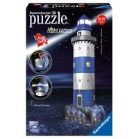 Ravnesburger 3D Puzzle - Maják v príboji nočná edícia 216D