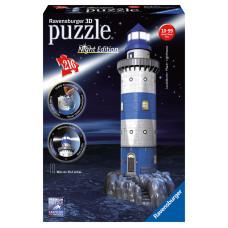 Ravnesburger 3D Puzzle - Maják v príboji nočná edícia 216D Preview