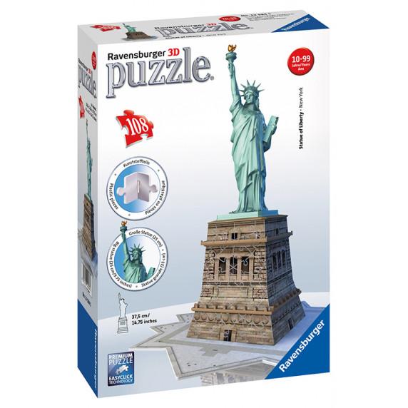 Ravensburger 3D Puzzle - Socha Slobody 108D