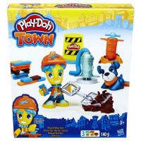 Play - Doh Town figúrka so zvieratkom - cestná stavba