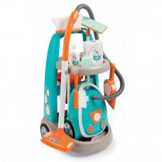 Detský upratovací vozík s elektronickým vysávačom Vacuum Cleaner Smoby s 9 doplnkami Preview