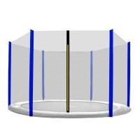 Aga Ochranná sieť - vonkajšia - 400 cm na 6 tyčí - čierna - modrá