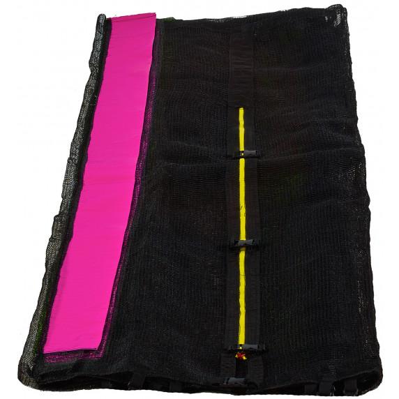 Aga Ochranná sieť - vonkajšia - 366 cm na 8 tyčí - čierna - ružová