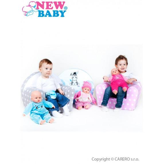 Detské kreslo New Baby Zebra ružové