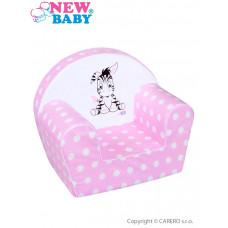 Detské kreslo New Baby Zebra ružové Preview