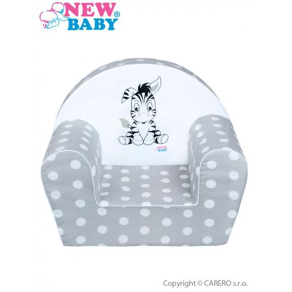Detské kreslo New Baby Zebra sivé