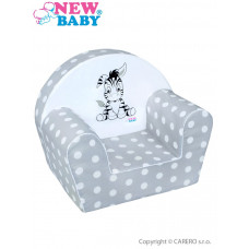 Detské kreslo New Baby Zebra sivé Preview