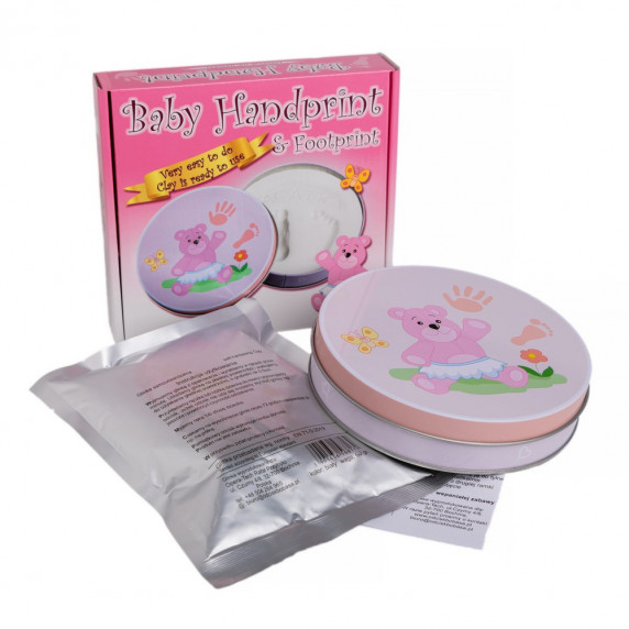 Sada na detský odtlačok Baby HandPrint - ružová