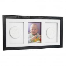 Trojitý fotorámik s odtlačkom Baby HandPrint- Čierny Preview