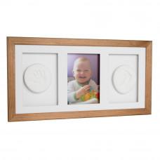 Trojitý fotorámik s odtlačkom Baby HandPrint - Hnedý Preview