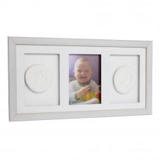Trojitý fotorámik s odtlačkom Baby HandPrint- Biely Preview
