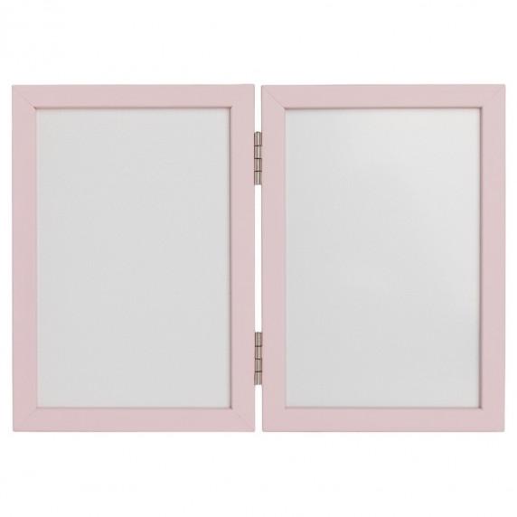 Inlea4Fun dvojitý fotorámik s odtlačkom - ružový