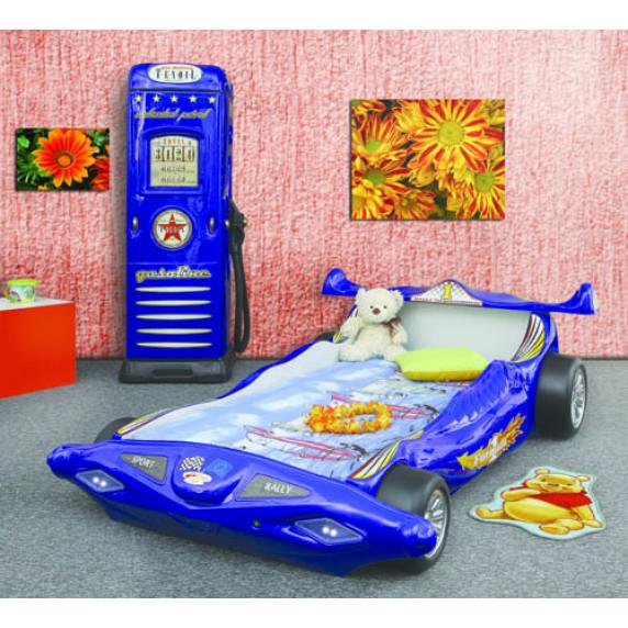 Detská postieľka Inlea4Fun Formula 1 - modrá