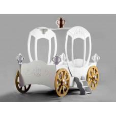 Inlea4Fun detská postieľka princeznovský koč - biely Preview