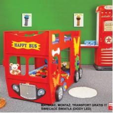 Inlea4Fun detská poschodová postieľka Happy Bus červená Preview