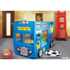 Inlea4Fun detská poschodová postieľka Happy Bus modrá Preview