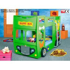 Inlea4Fun detská poschodová postieľka Happy Bus zelená Preview
