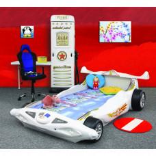 Inlea4Fun detská postieľka Formula 1 biela Preview