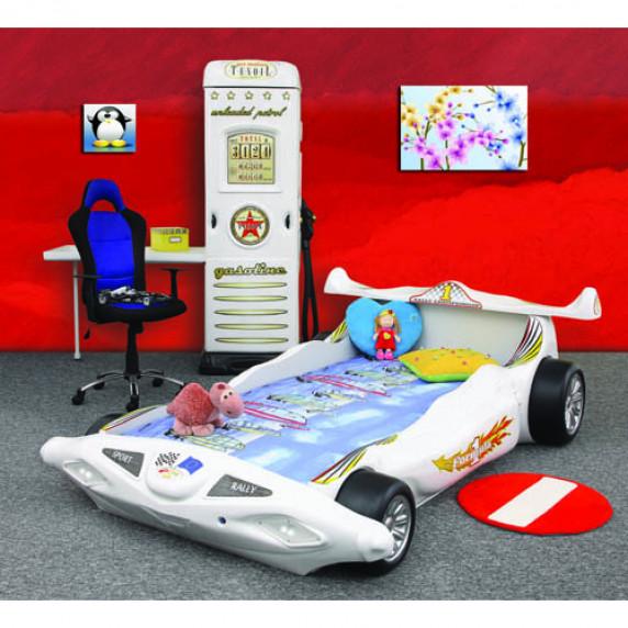 Inlea4Fun detská postieľka Formula 1 biela