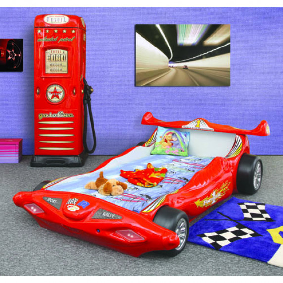 Inlea4Fun detská postieľka Formula 1 červená