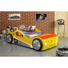 Inlea4Fun detská postieľka Monza žltá Preview