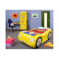 Inlea4Fun detská postieľka SLEEPCAR žltá
