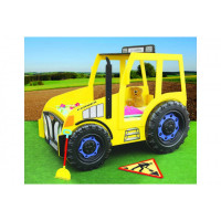 Inlea4Fun detská postieľka Traktor žltá