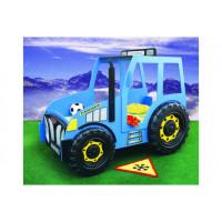 Inlea4Fun detská postieľka Traktor modrá