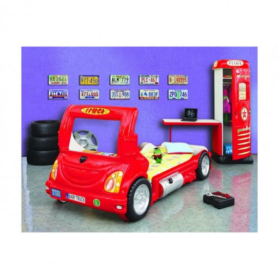 Inlea4Fun detská postieľka Truck červená