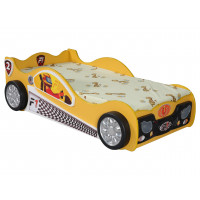 Detská postieľka Monza Mini Inlea4Fun - žltá
