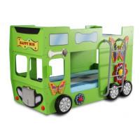 Inlea4Fun detská poschodová postieľka Happy Bus